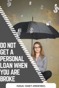 Do not get a personal loan