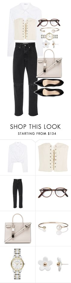 """""""Untitled #22298"""" by florencia95 ❤ liked on Polyvore featuring T By Alexander Wang, Isabel Marant, Christopher Kane, Cutler and Gross, Yves Saint Laurent, Letters By Zoe, Burberry and Poporcelain"""