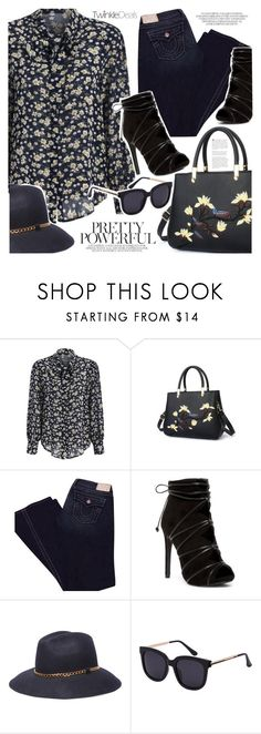 """""""Floral top"""" by vanjazivadinovic ❤ liked on Polyvore featuring True Religion, 8, polyvoreeditorial and twinkledeals"""