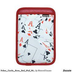 Poker,_Cards,_Aces,_Red_iPad_Mini_Sleeve iPad Mini Sleeve