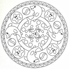 mandala coloring page dolphins flickr intercambio de fotos