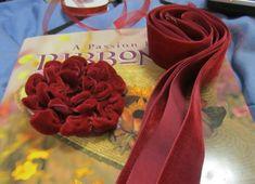 Ravings of a Mad Crafter: Valentine Inspired Velvet Ribbon Flower