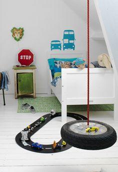 Boys room with cars