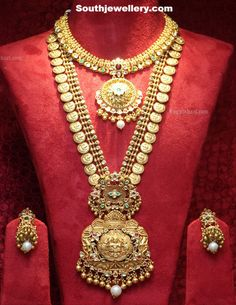 Kasula Peru with Lakshmi Pendant ~ Latest Jewellery Designs