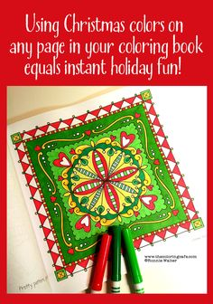 It's a fun challenge and a great way to involve more people when you don't have a lot of Christmas coloring books.