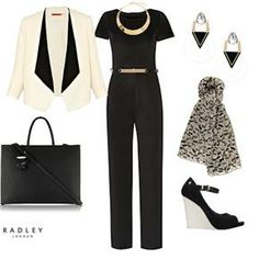 The Styling Agency & ASOS Fashion Finder  #workwear #workwearchic #smartclothes #getthelook #asos #wedges #jumpsuit #leatherbag #businesschic