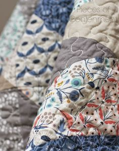 Pieces of Contentment: Coming Home. 100% organic quilt - listed on Etsy.