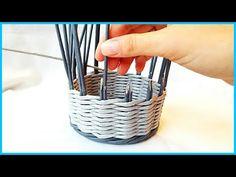 2 способа наращивания стоек (плетение из газетных трубочек) - YouTube
