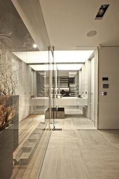 Mirror And Glass Bathroom  #Design #homedecor #bathroom #architecture