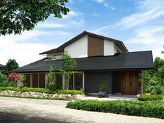 和風の大屋根 イメージ Modern Asian, Japanese Modern, Japanese House, Dezeen Architecture, Cafe Japan, Facade Pattern, Asian House, Simple House, Ideal Home