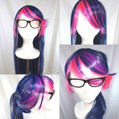 Check out this item in my Etsy shop https://www.etsy.com/listing/462500359/twilight-sparkle-wig-glasses-ears-cap
