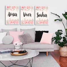 Kit Amar Viver Sonhar - Encadreé Posters