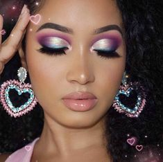 Purple Makeup Looks, Makeup Eye Looks, Eye Makeup Art, Eyeshadow Makeup, Beauty Makeup, Mermaid Makeup Looks, Purple Eyeshadow Looks, Purple Eye Makeup, Eyeshadow Palette