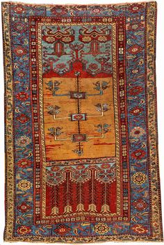 Rare Yellow Ground Ladik 'Prayer Rug',
