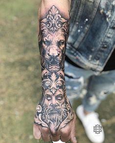 Tattoos - Famous Last Words Forarm Tattoos, Dope Tattoos, Badass Tattoos, Forearm Tattoo Men, Mini Tattoos, Leg Tattoos, Body Art Tattoos, Tattoo Ink, Tiger Hand Tattoo