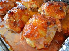 Baked Pineapple Teriyaki Chicken -GF recipe (use proper soy sauce)-inspiration for tonight dinner. Bbq sauce,  garlic loves, ginger, crushed pineapple, soy sauce - all in food processor smothered on chicken.