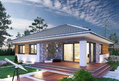 Kwadra - murowana – ceramika - zdjęcie 2 Round House Plans, Small Modern House Plans, House Layout Plans, Contemporary House Plans, Dream House Plans, House Layouts, Modern House Design, Modern Bungalow Exterior, White Exterior Houses