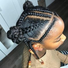Cute Little Girl Hairstyles, Black Kids Hairstyles, Baby Girl Hairstyles, Natural Hairstyles For Kids, Kids Braided Hairstyles, Natural Hair Styles, Long Hairstyles, Cornrows For Little Girls, Ladies Hairstyles