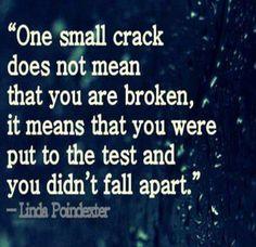 Didn't fall apart