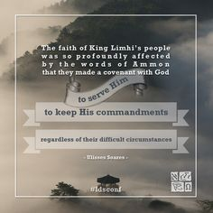 """Ulisses Soares Book of Mormon meme from LDS General Conference. """"The faith of King Limhi's people was so profoundly affected by the words of Ammon that they made a covenant with God."""""""