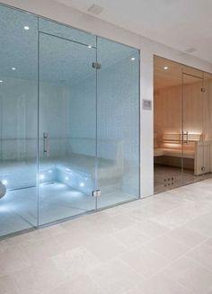 Home Steam Room Design With worthy Bathroom Design Idea Create A Luxurious Spa Free Home Steam Room, Sauna Steam Room, Sauna Room, Saunas, Piscina Interior, Spa Interior, Interior Decorating, Interior Design, Private Sauna