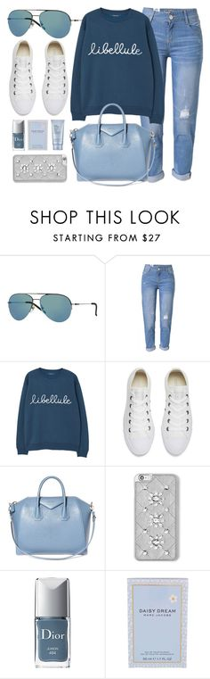 """""""Blue Sky"""" by smartbuyglasses-uk ❤ liked on Polyvore featuring DKNY, WithChic, MANGO, Converse, Givenchy, MICHAEL Michael Kors, Christian Dior, Marc Jacobs, Estée Lauder and casual"""