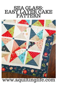 Easy Layer Cake quilt with mini quilt made with charm squares included. Patterns available in paper and PDF Amazon Makeup Kit, Quilting For Beginners, Quilting Tips, Quilting Projects, Easy Quilts, Scrappy Quilts, Mini Quilts, Layer Cake Quilts, Layer Cakes