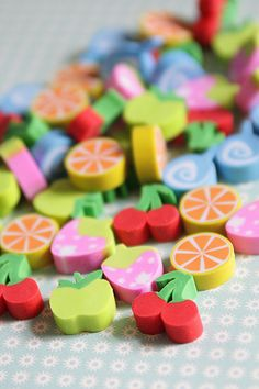Cute Mini Fruits Eraser Set