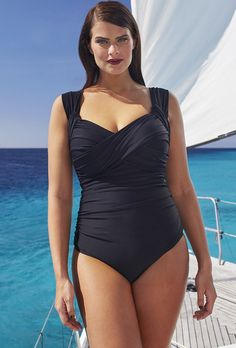 Tropiculture Black Crossover Swimsuit