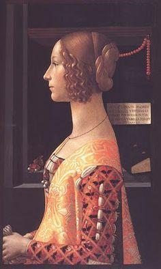 Domenico Ghirlandaio, Giovanna degli Albizzi Tornabuoni, 1488/ 90 Portraits of  Women in Italian Renaissance Painting #TuscanyAgriturismoGiratola