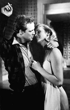 Marlon Brando & Eva Marie Saint,  'On the Waterfront' 1954 - Directed by Elia Kazan.
