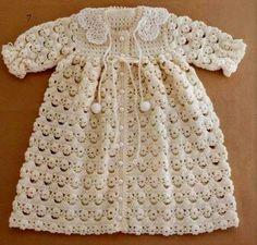Fofura de vestidinho em crochê para as pequenas.  grafico1 grafico2