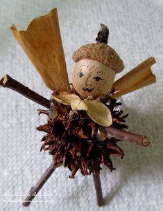 DIY ~ Fairies/Angels made from natural materials for free! http://ourfairfieldhomeandgarden.com/diy-project-fairies-for-free/