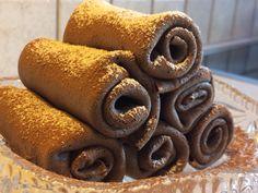 Chocolate pancakes with chocolate filling Шоколадные блинчики с шоколадной начинкой