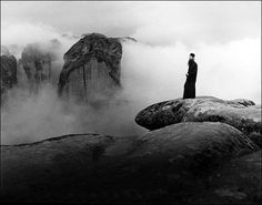 A monk on the rock of Meteora