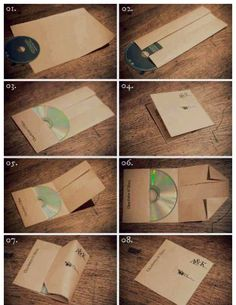 Paper folding  Personalized cd/DVD cover