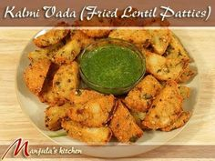 Kalmi Vada (Fried Lentil Patties) Recipe by Manjula, Exotic Indian Appetizers