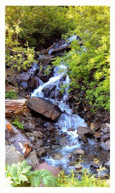 Waterfall near Twin Lakes in Washington