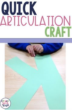 quick and easy articulation craft for speech therapy Articulation Therapy, Articulation Activities, Speech Therapy Activities, Speech Language Pathology, Speech And Language, Craft Activities, Family Game Night, Family Games, Play Therapy Techniques