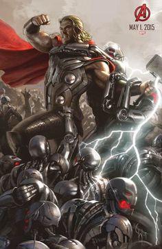 Thor em destaque no novo pôster de Os Vingadores 2: A Era de Ultron.