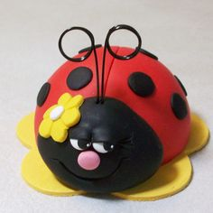 Ladybug Cake topper: Ladybird cake topper or by Peggers on Etsy