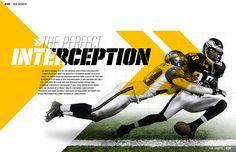 sports magazine spread - Google Search