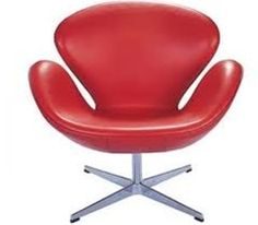 Designer Modern Swan Chair in Red Leather >>> To view further for this item, visit the image link.