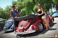 Bebo Olmedo with his 1956 Red Primer Paint VW Convertible, from Inglewood, California. Pic of the day by the VdubHub.com   Source: Nuestra foto del día, es de nuestro amigo Bebo Olmedo …