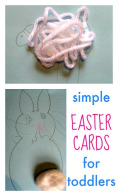 Sweet and simple easter cards for toddlers