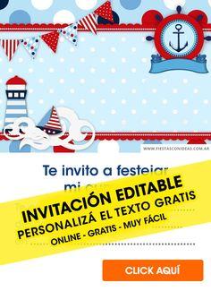 Baby Shower Marinero, Baby Shower Invitaciones, Online Gratis, Birthday, Gugu, Baby Baby, Roman, Free, Birthday Cards For Kids