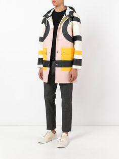 Henrik Vibskov X Stutterheim Rain Jacket Colorblock 2 Black/Pink/Yellow   Henrik Vibskov Boutique