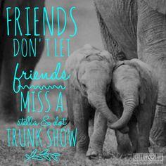 Friends don't let friend miss a Stella & dot trunk show party