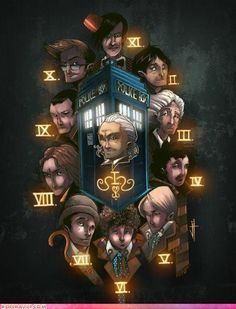 Need to make this clock. Oh.  wait.  There aren't twelve.  But still.  There will be, and you can leave the Tardis as a marker...