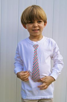 Neck tie short sleeve tshirt by princessandfroggy on Etsy, $18.00